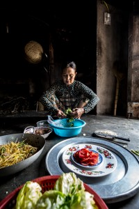 Vietnamese Woman Cooking